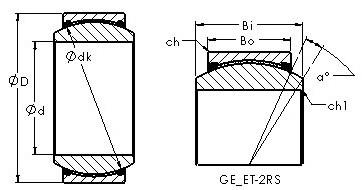AST GEG25ET-2RS Rolamentos simples