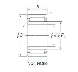 28 mm x 42 mm x 20 mm  KOYO NQI28/20 Rolamentos de agulha