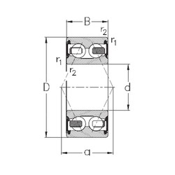 55 mm x 100 mm x 33,3 mm  NKE 3211-B-2RSR-TV Rolamentos de esferas de contacto angular