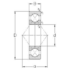 80 mm x 140 mm x 26 mm  NKE QJ216-MPA Rolamentos de esferas de contacto angular