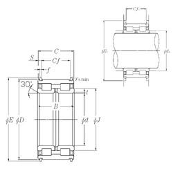 140 mm x 210 mm x 95 mm  NTN SL04-5028NR Rolamentos cilíndricos