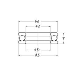 RHP LT4.1/4 Rolamentos de esferas de impulso