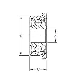 4 mm x 16 mm x 5 mm  ZEN F634-2RS Rolamentos de esferas profundas