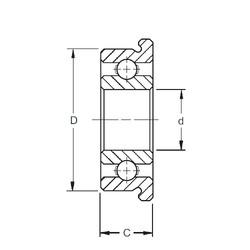 2,5 mm x 6 mm x 1,8 mm  ZEN SF682X Rolamentos de esferas profundas