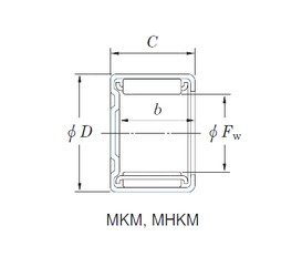 KOYO MHKM1012 Rolamentos de agulha