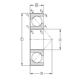 30 mm x 62 mm x 16 mm  NKE 7206-BE-TVP Rolamentos de esferas de contacto angular