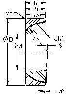 AST GAC150T Rolamentos simples