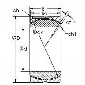 AST GEH260HC Rolamentos simples