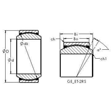 AST GE70ET-2RS Rolamentos simples