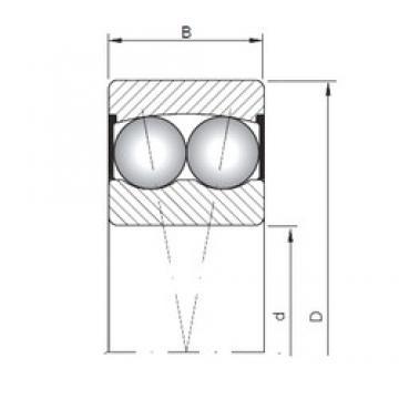 35 mm x 72 mm x 23 mm  ISO 2207-2RS Rolamentos de esferas auto-alinhados