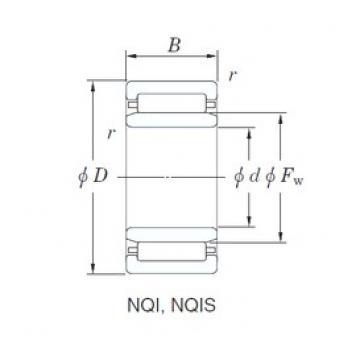 12 mm x 24 mm x 16 mm  KOYO NQI12/16D Rolamentos de agulha