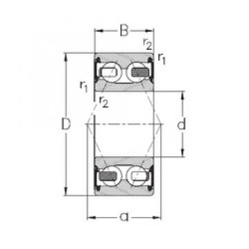 40 mm x 90 mm x 36,5 mm  NKE 3308-B-2RSR-TV Rolamentos de esferas de contacto angular