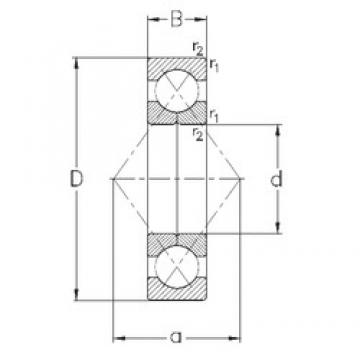 50 mm x 90 mm x 20 mm  NKE QJ210-MPA Rolamentos de esferas de contacto angular