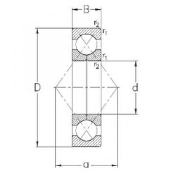 60 mm x 110 mm x 22 mm  NKE QJ212-MPA Rolamentos de esferas de contacto angular