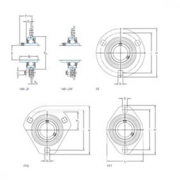 SKF PFD 1.1/4 TR Unidades de rolamento