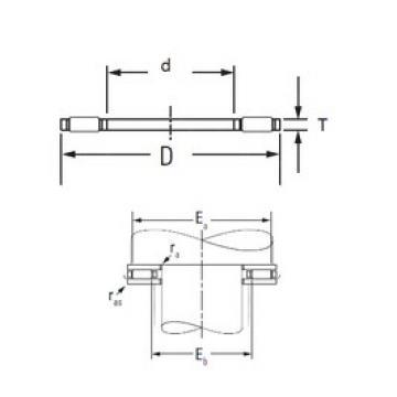 KOYO FNTA-80105 Rolamentos de agulha