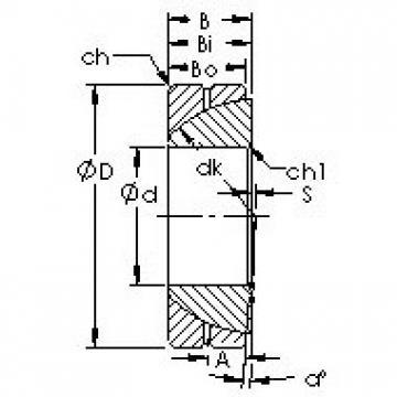 AST GAC190S Rolamentos simples