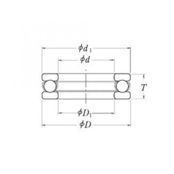 RHP XLT3.1/4 Rolamentos de esferas de impulso