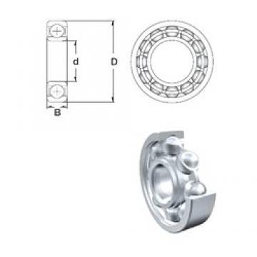 3 mm x 9 mm x 4 mm  ZEN MR93-2Z Rolamentos de esferas profundas