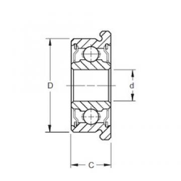 3,175 mm x 12,7 mm x 4,366 mm  ZEN FR2A Rolamentos de esferas profundas