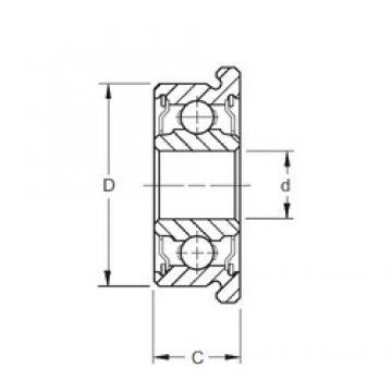 5 mm x 14 mm x 5 mm  ZEN F605-2RS Rolamentos de esferas profundas