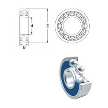10 mm x 22 mm x 6 mm  ZEN 61900-2RS Rolamentos de esferas profundas