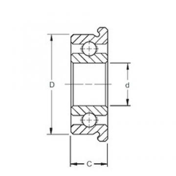 8 mm x 12 mm x 2,5 mm  ZEN MF128 Rolamentos de esferas profundas