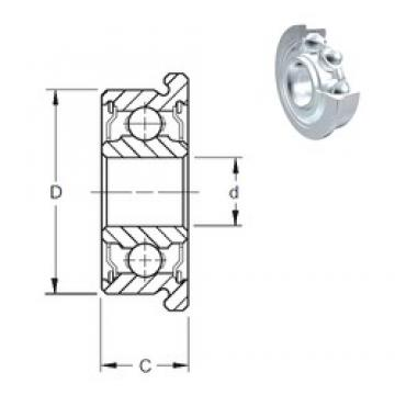 2,5 mm x 7 mm x 3,5 mm  ZEN SF692X-2Z Rolamentos de esferas profundas