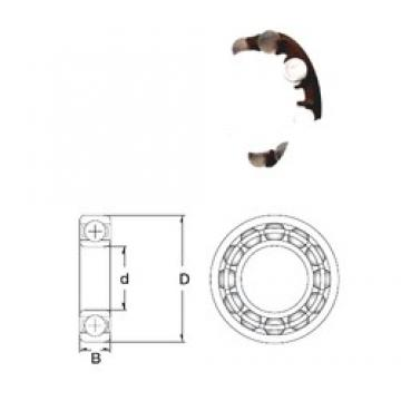 8 mm x 24 mm x 8 mm  ZEN P628-GB Rolamentos de esferas profundas