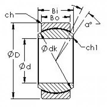 AST GE35ET/X Rolamentos simples