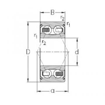 60 mm x 110 mm x 36,5 mm  NKE 3212-B-2Z-TV Rolamentos de esferas de contacto angular
