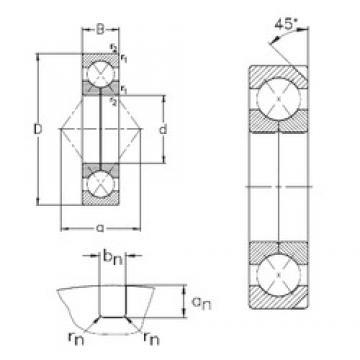 170 mm x 360 mm x 72 mm  NKE QJ334-N2-MPA Rolamentos de esferas de contacto angular