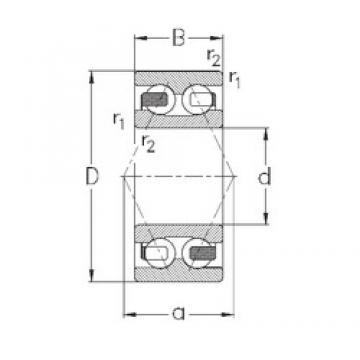 30 mm x 72 mm x 30,2 mm  NKE 3306-B-TV Rolamentos de esferas de contacto angular