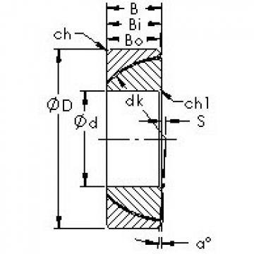 AST GAC120T Rolamentos simples