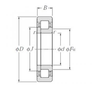 95 mm x 170 mm x 32 mm  NTN NUP219E Rolamentos cilíndricos