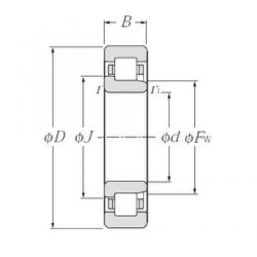 95 mm x 170 mm x 32 mm  NTN NJ219E Rolamentos cilíndricos
